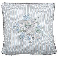 Kuddfodral Nicoline, Beige w/embroidery