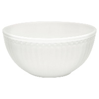 Cereal bowl Alice, White