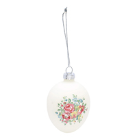 Egg hanging Franka, White