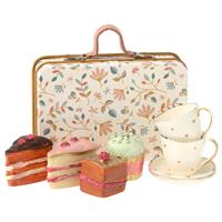 Väska med 4 kakor och 2 koppar