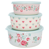 Round box Sonia, Pale blue set of 3