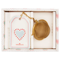 Tea infuser Penny, White w/chain