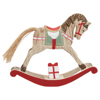 Decoration rocking horse, Red