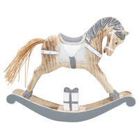 Decoration rocking horse, Grey