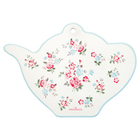 Coaster teapot Sonia, White