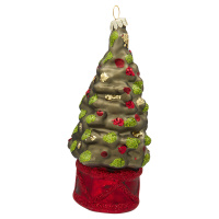 Ornament glass Christmas tree, Green