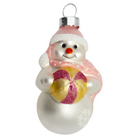 Snowman glass, Pale pink