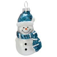 Snowman glass, Pale blue