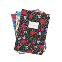 Set of 3 Wild Rose Stitched Notebook Set