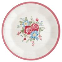 Plate Henrietta, White