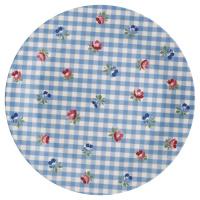 Plate Viola check, Pale blue