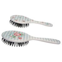 Hair brush round Henrietta, Pale blue set of 2ass