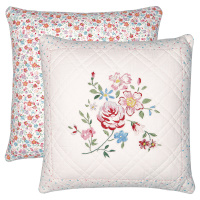 Kuddfodral Belle, White w/embroidery
