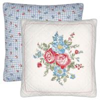 Kuddfodral Henrietta, White w/embroidery