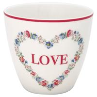 Lattemugg Heart Love, White