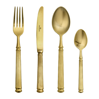 Cuterly dinner set of 4 pcs, Gold