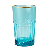 Acrylic Tumbler in Mint with Gold Edge, Small