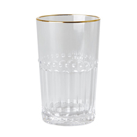 Acrylic Tumbler in Clear with Gold Edge, Small