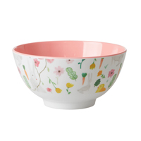 Melamine Bowl with Easter Print, Medium