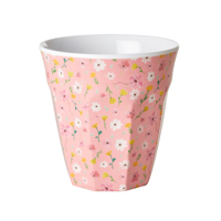 Melamine cup with Pink Easter Flower print, Medium
