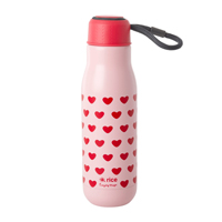 Stainless Steel Drinking Bottle with Sweet Hearts Print