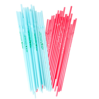 Straw in 2 Asst. Colors - Im Not Plastic Wording - 24 psc
