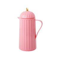 Thermos with Gold Bird on Lid, Bubbelgum Pink