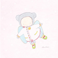 Kort Axel, Flick-ängel på rosa