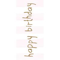 Tore kort, Happy birthday rosa rand