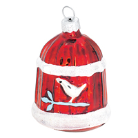 Christmas ball bird house, Röd 4-pack