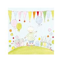 Kort Axel, Pojke, ballong och vimplar