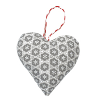 Xmas heart Anna, Warm grey