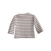 Långärmad t-shirt Offwhite/blå, Mega Maxi