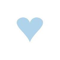 Doris kort, Hjärta Ljusblått