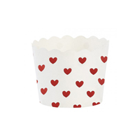 Baking cup, Red heart