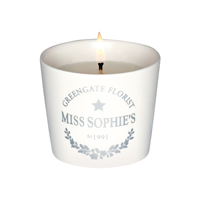 Candle tealight Sophie, Warm grey