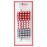Pegs wooden Coco, 12 pcs