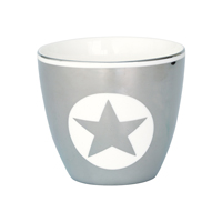 Lattemugg Silver, 1 Star