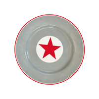 Assiette Big star, Red