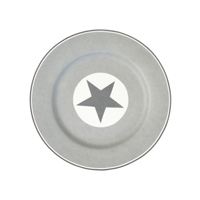 Assiette Big star, Warm grey