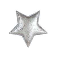 Wooden Star, Silver decoration