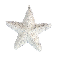 Xmas decoration Star, Glitter white
