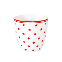 Mini lattemugg Star small, White