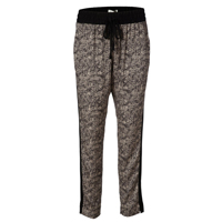 Silk trousers, Granite print