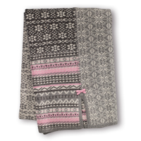 Patchwork blanket, Grey melange