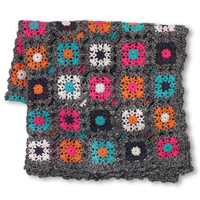 Kehle holder multi blanket, Black melange