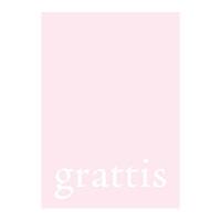 Pyttekort, grattis på rosa