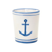 Candle tealight Anchor, Indigo