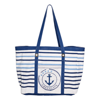 Canvas beach bag Anchor, Indigo