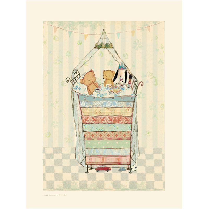 a10097x.jpg - Plansch, Teddy and the pea - Elsashem Butiken med det lilla extra...